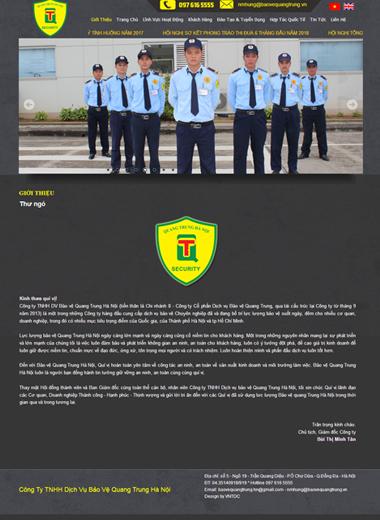 Công ty bảo vệ Quang Trung